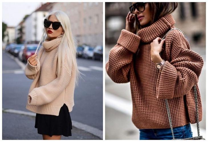 c987de7d748 Дизайнеры отлично прочувствовали общее настроение и продолжают в своих  новых коллекциях радовать модниц оригинальными идеями свитеров в этом стиле.