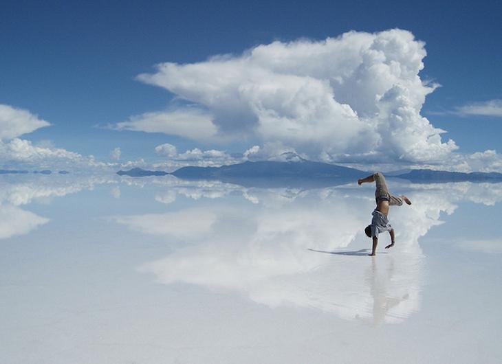 Уникальное соленое озеро Салар де Уюуни