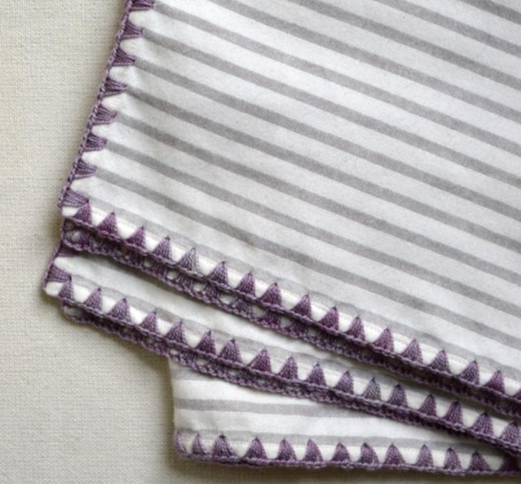 Узоры для обвязки носовых платков крючком: схемы