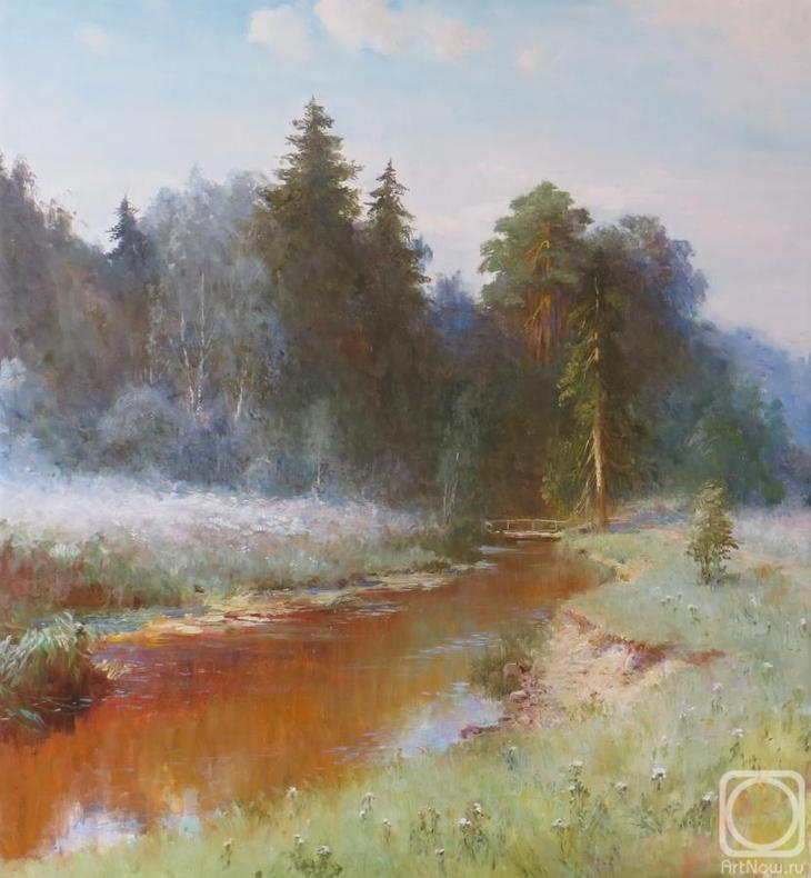 Картина маслом на холсте. Комаров Николай. Лето