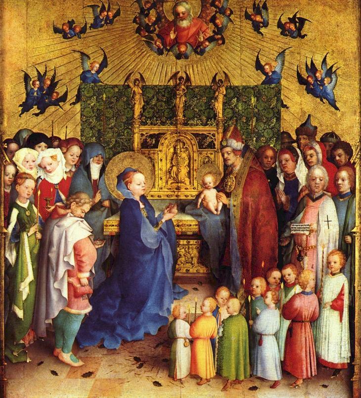 Стефан Лохнер. Принесение Христа во храм