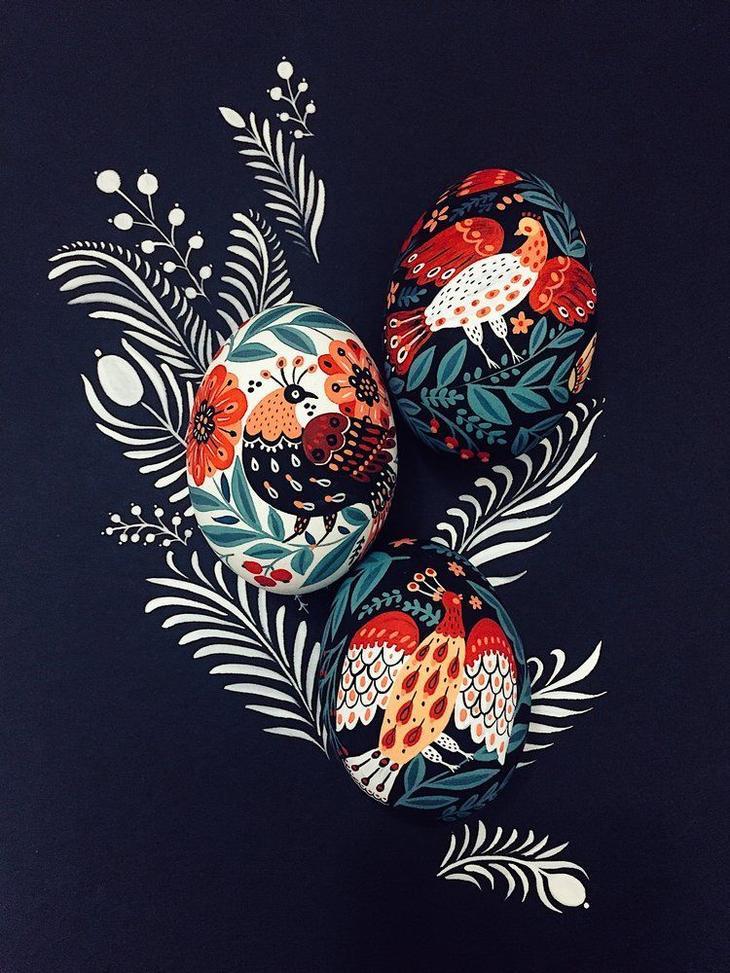 Пасхальные яйца фольклорные мотивы от художницы из Узбекистана Динары Мирталиповой, фото № 15