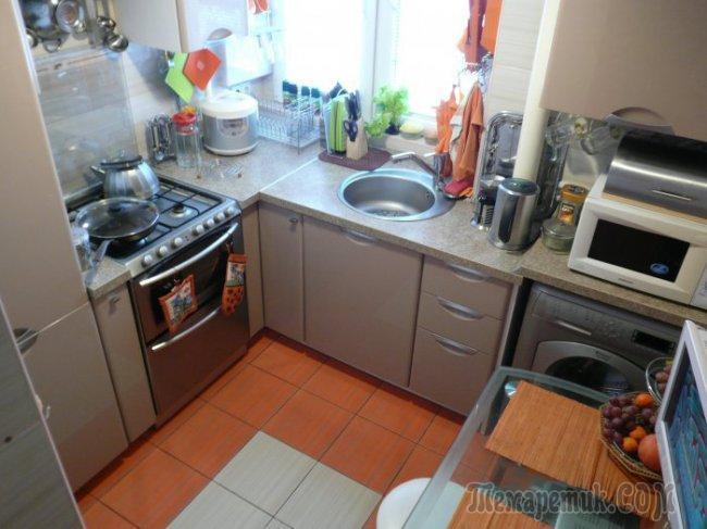 Реальная кухня на 4,8 кв.м