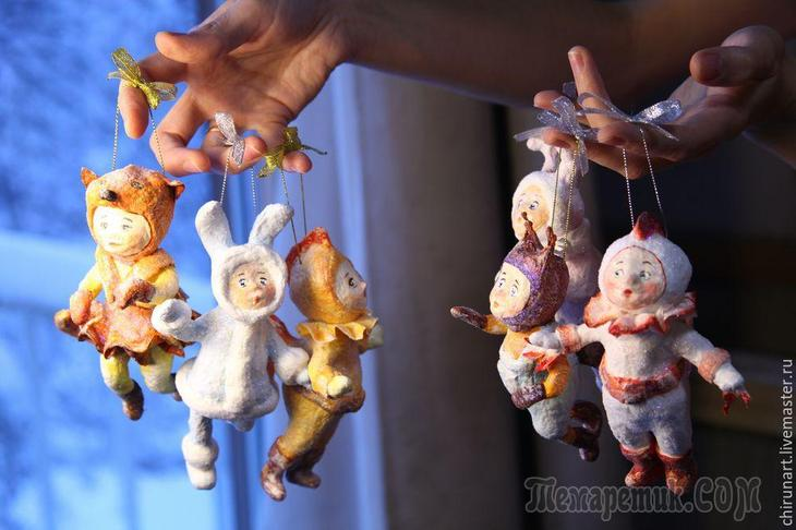 """""""Ребятки на елочку"""": мастерим ватные елочные игрушки"""
