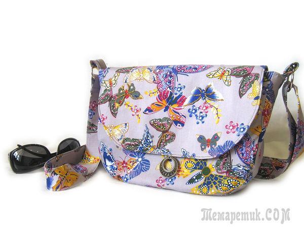 Шьем яркую текстильную сумочку на лето