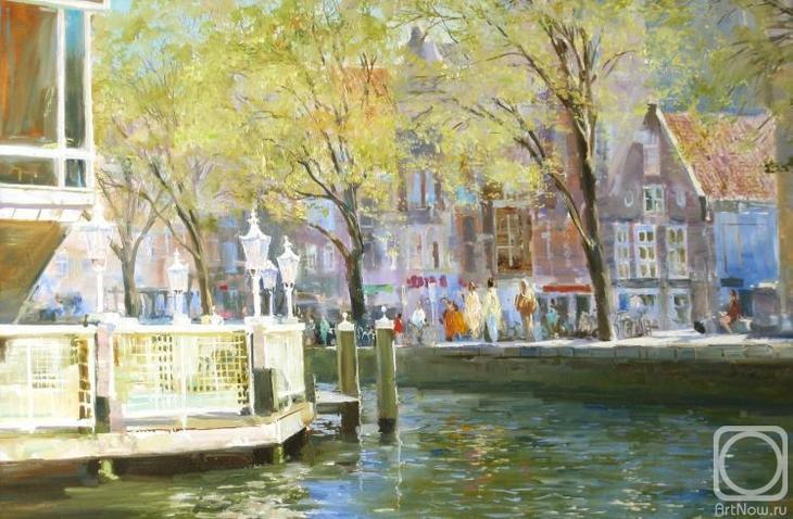 Картина маслом на холсте. Комаров Николай. Амстердам