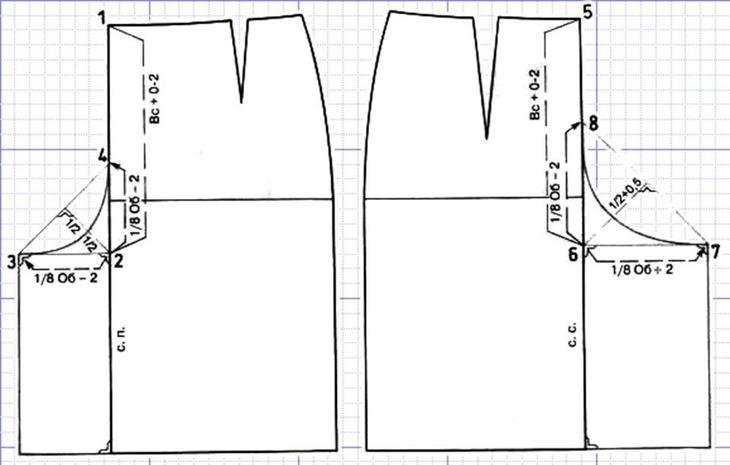 Выкройка гульфика для пошива женских брюк, вариант 1