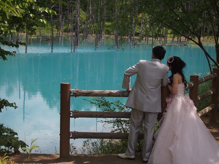 Голубой пруд Биэй. Свадебное фото