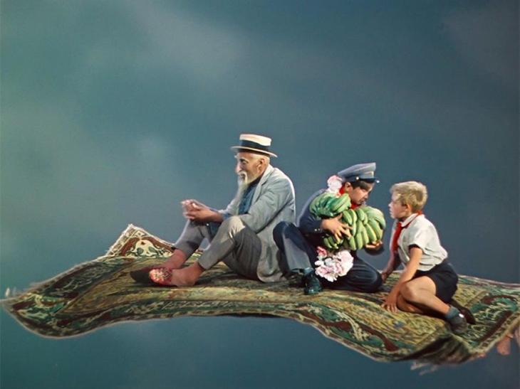 У Хоттабыча был не просто ковёр-самолет, а ковёр-гидросамолёт «ВК-1», названный джинном в честь Вольки Костылькова Джинн, Старик Хоттабыч, дом кино, интересное, история, кино, факты, фильм