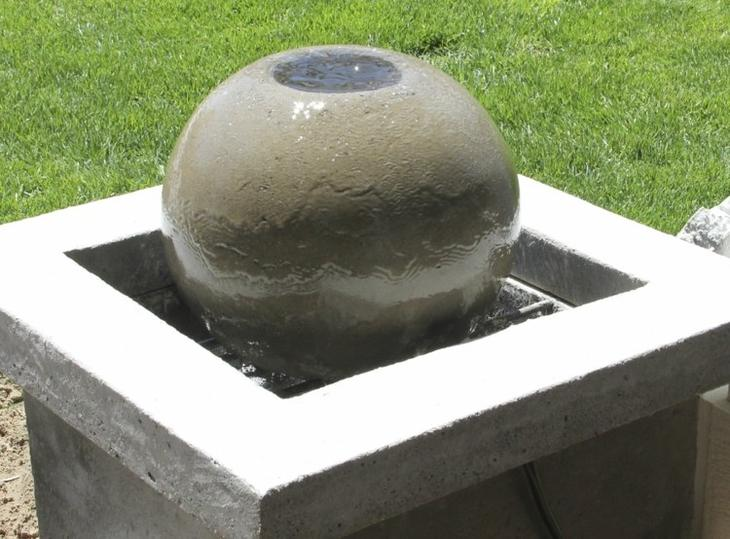как сделать фигуры для сада своими руками фото мастер класс круглый фонтан