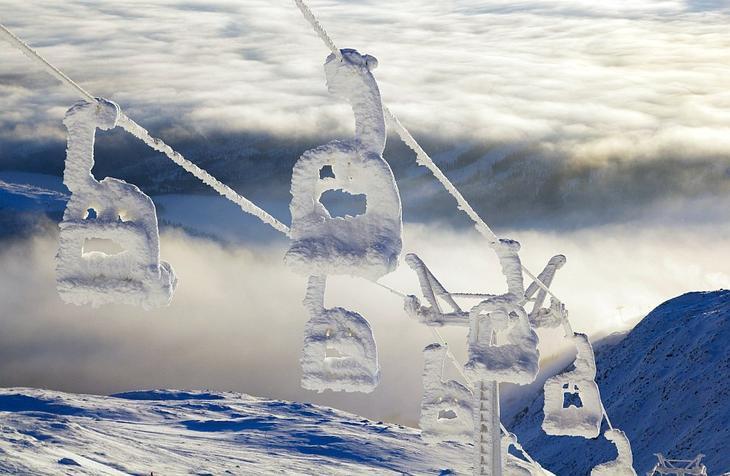 Замерзший подъемник. Арескутан, Швеция