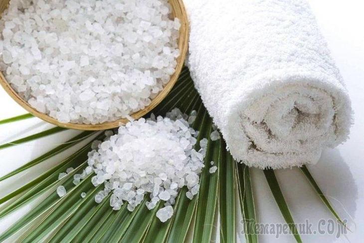 Маска для роста волос с солью
