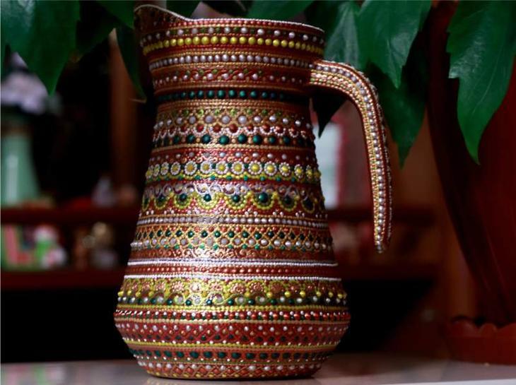 Идеи точечной росписи для керамической вазы