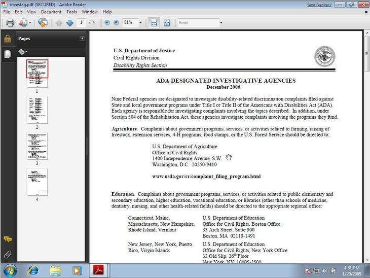 Рис. 8. Просмотр документа в Adobe Reader на Windows 7
