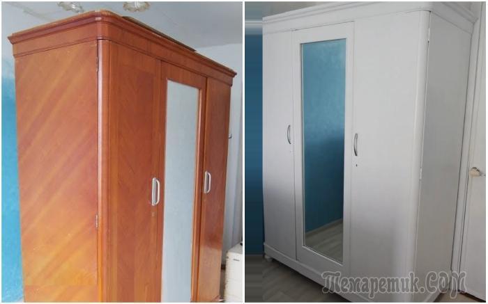 Как сделать, чтобы устаревший шкаф достойно вписался в современный интерьер