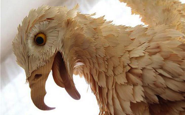 Realistic Siberian Wildlife 10 Скульптуры животных из стружки кедрового дерева