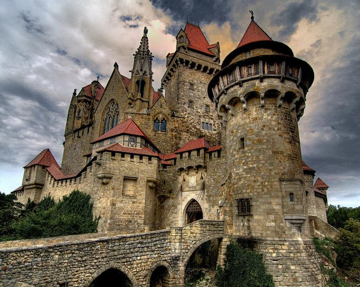 Замок Кройценштайн, Австрия. Построен в 1278 году. европа, замки, история, средневековье