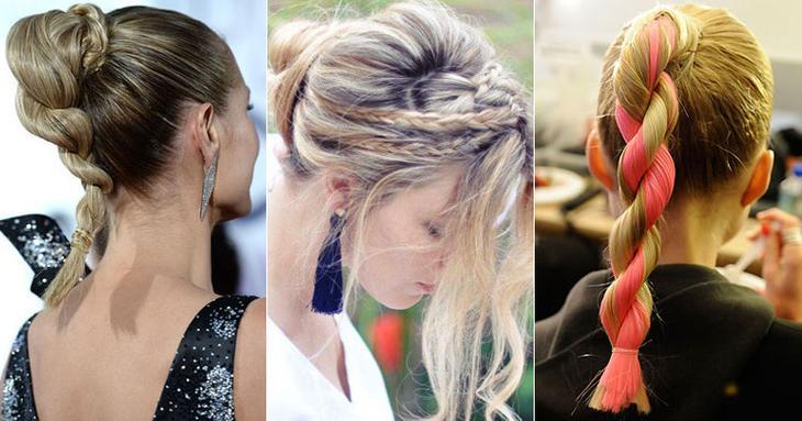 Легкие косички на средние волосы
