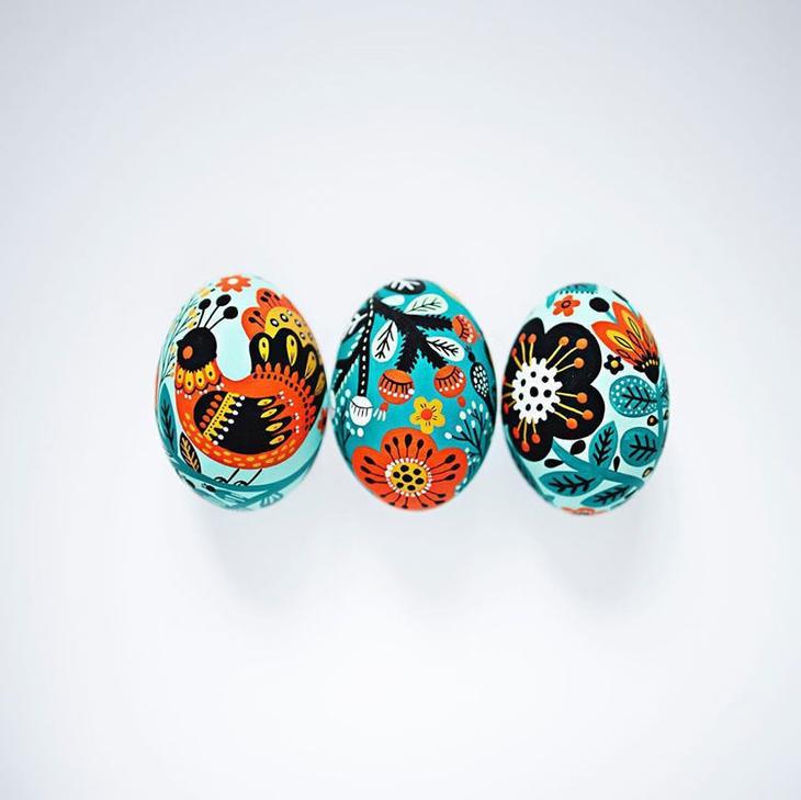 Пасхальные яйца фольклорные мотивы от художницы из Узбекистана Динары Мирталиповой, фото № 3