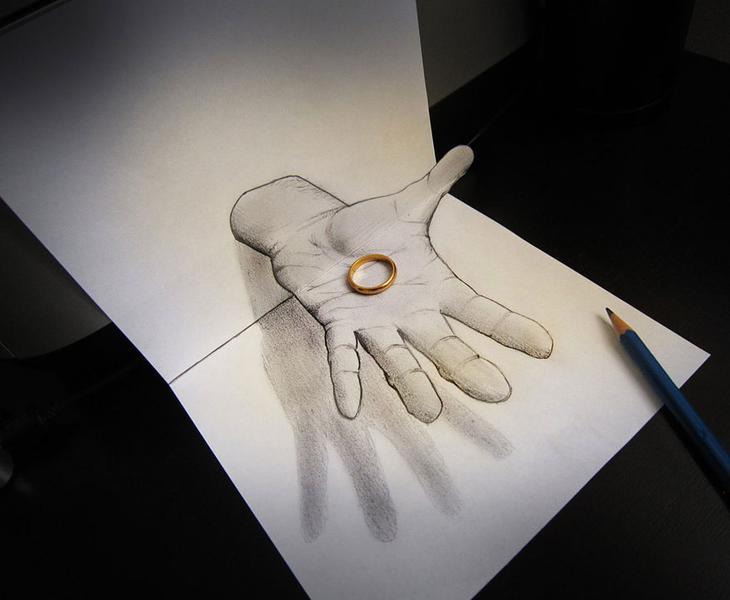 3Ddrawings09 Самые впечатляющие карандашные 3D рисунки от художников со всего света