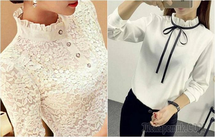16 потрясающих моделей белоснежных блузок, в которых любая дама станет нежной и женственной