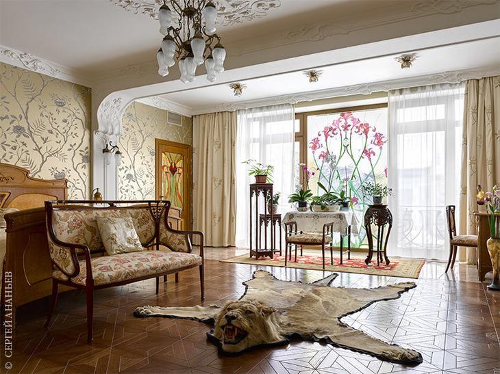 Сказочная квартира в стиле ар-нуво в Подмосковье