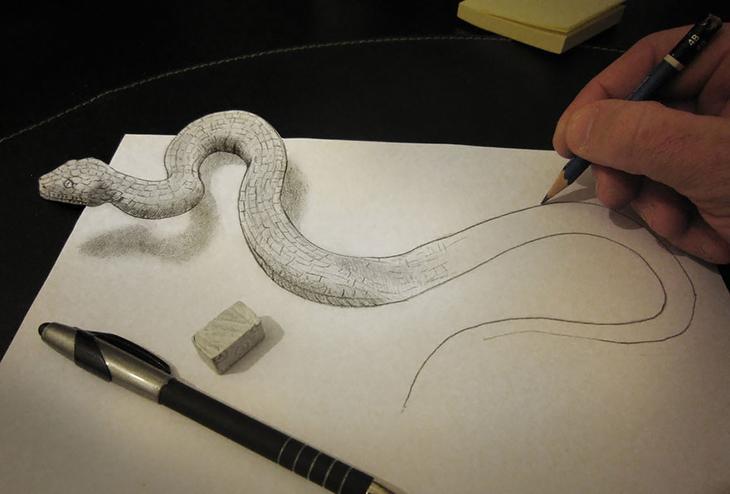 3Ddrawings22 Самые впечатляющие карандашные 3D рисунки от художников со всего света