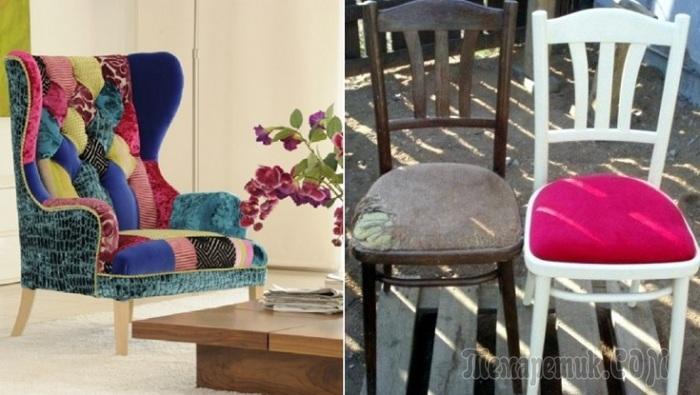 Как омолодить старую мебель подручными средствами