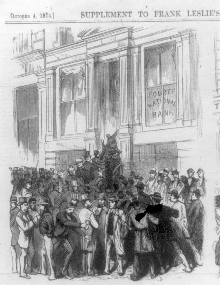 Паника, Fourth National Bank, Нью-Йорк, 1873 / ©wikipedia