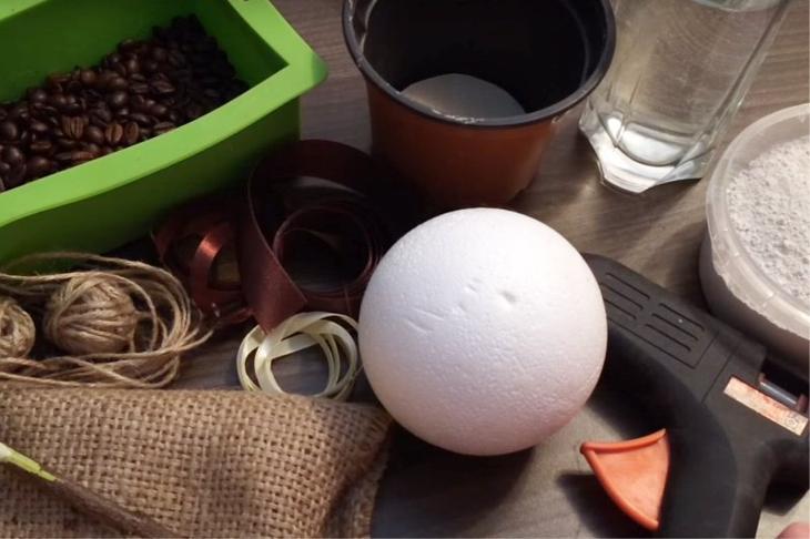 Материалы для изготовления кофейного топиария