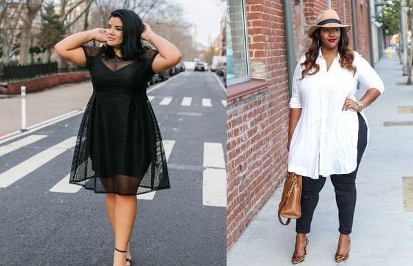 Как красиво одеться полной женщине с животом в 2020