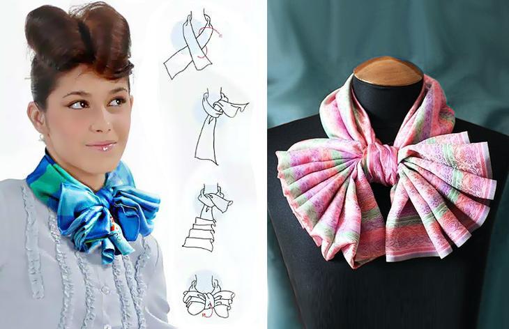 сложить шейный платок бантиком