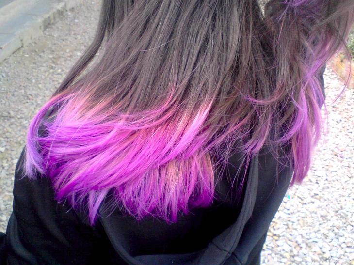 фото окрашенных кончиков волос