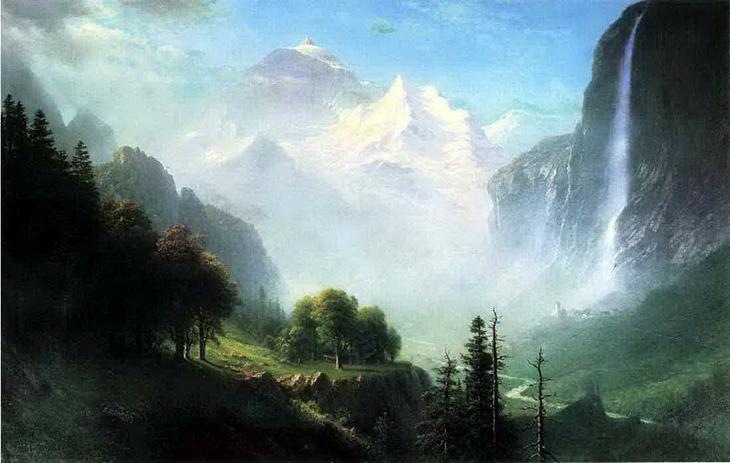 Водопад Штауббах, около Лаутербруннена, Швейцария. 1865