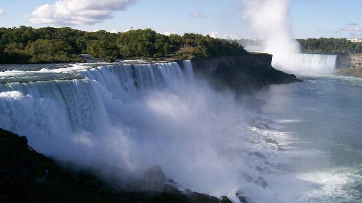 Ниагарский водопад, США, Канада виды, города, история, факты, фото
