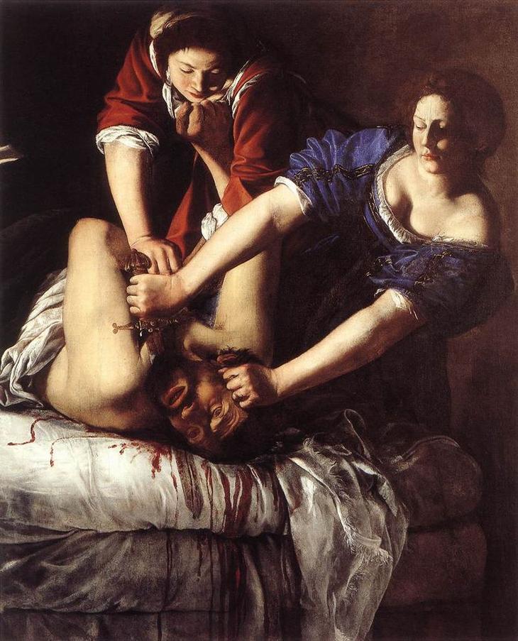 «Юдифь, обезглавливающая Олоферна» (1612-1613)