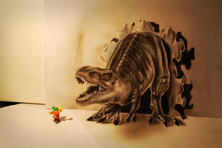 3Ddrawings08 Самые впечатляющие карандашные 3D рисунки от художников со всего света