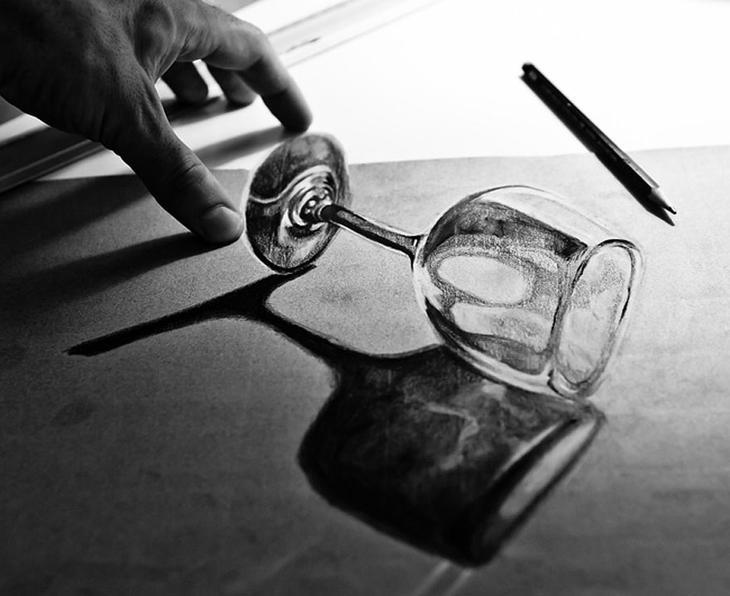 3Ddrawings32 Самые впечатляющие карандашные 3D рисунки от художников со всего света