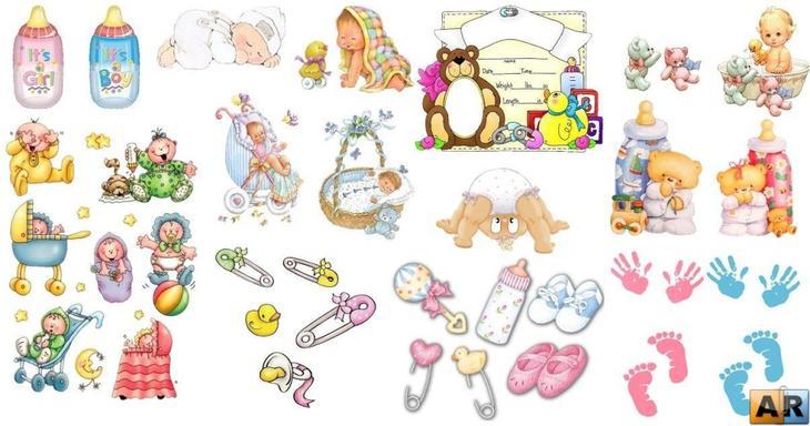 Вырезки-рисунки для детского фотоальбома
