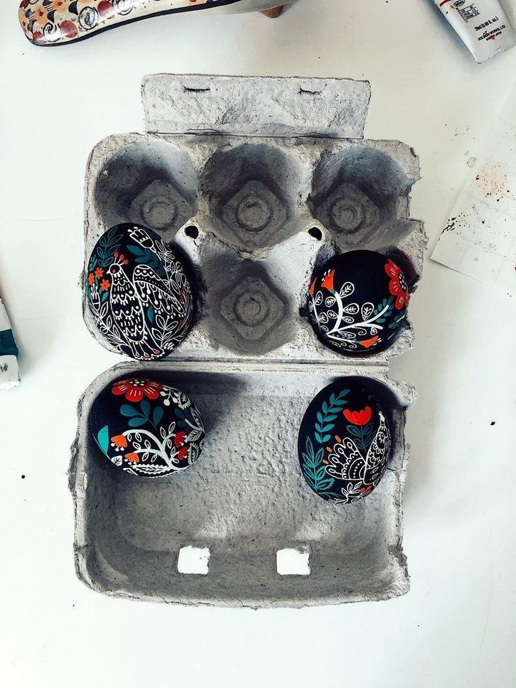 Пасхальные яйца фольклорные мотивы от художницы из Узбекистана Динары Мирталиповой, фото № 8