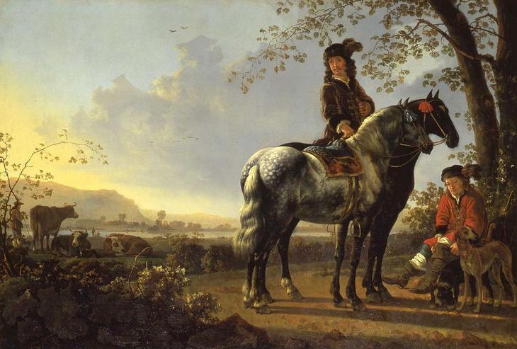 Всадник на фоне пейзажа -- 117х170, Музей Дордрехт
