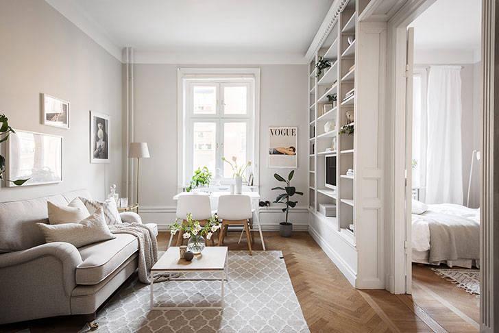 Солнечная квартира в Швеции (43 кв. м)