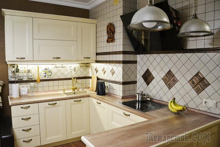 Моя кухня: современная классика цвета кофе с молоком