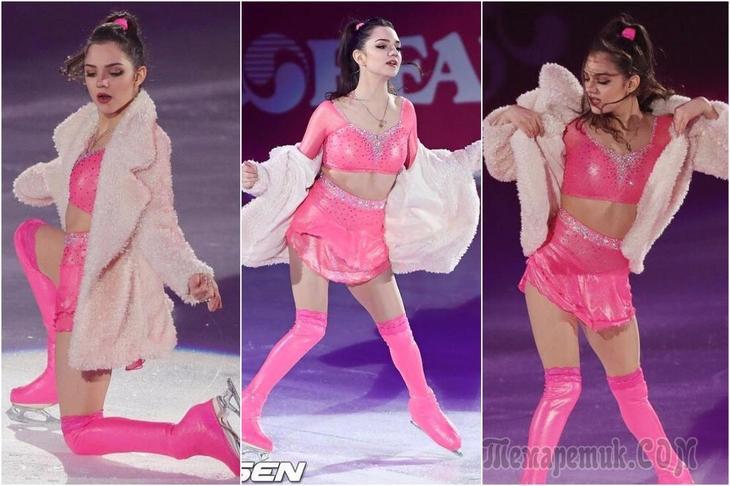 Вся в розовом латексе: Медведева удивила внешним видом