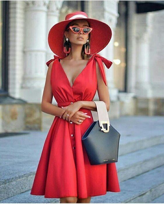 Шикарное красное платье. 20 неповторимых образов